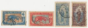 Middle Congo - 1907-22 - SC 3,6,10,14 - Used