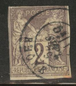 French Colonies Scott 39 Used 2c  Brown 1878 CV$24