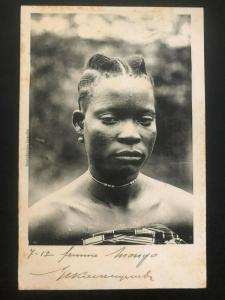 1907 Boma Congo Real Picture Postcard cover Mongo Woman