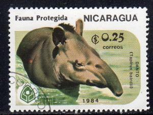Nicaragua 1391 - Cto-nh - Baird's Tapir in Water