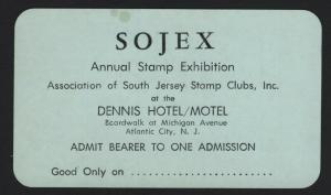 UNITED STATES  SOJEX PHILATELIC SHOW CARD CINDERELLA - BARNEYS