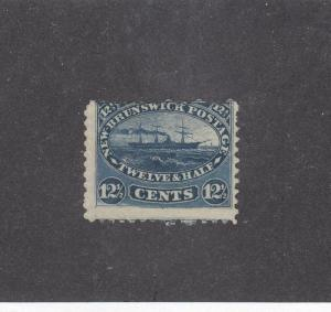 NEW BRUNSWICK  # 10  F-MH 12 1/2cts  STEAMSHIP/ BLUE / CENTS ISSUE CAT VALUE $60