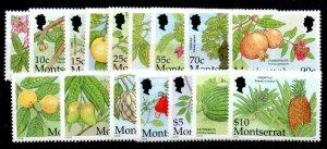 MONTSERRAT SG1195/210 2001 CARIBBEAN FRUITS SET MNH