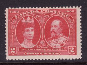 Canada-Sc#98-Unused hinge 2c carmine Tercentenary-1908-
