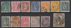 Chile, Scott 25-36, 29a, used