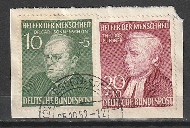 B328-29 Germany Used Semi-Postal on paper