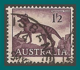 Australia 1962 Tasmanian Tiger, used  325,SG321