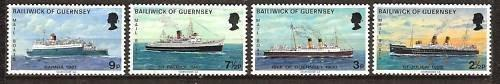 Guernsey (Great Britain Issues), Mint Never Hinged MNH, Scott #77 to 80 (77-8...