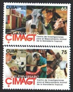 Cuba. 2016. 6048-49. Livestock Research Center, Horse. MNH.