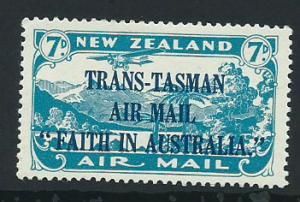 New Zealand SG 554 Trans Tasman Air Mail  1934 MLH