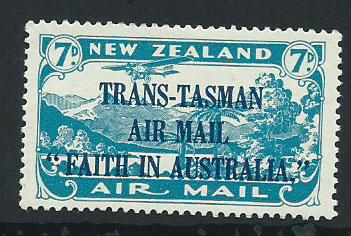 New Zealand SG 554 Trans Tasman Air Mail  1934 MLH