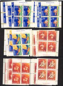 Canada - 1975 Olympic Semi-Postals Imprint Blocks mint
