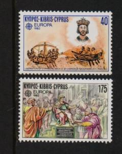 Cyprus 1982 MNH  Europa historic events complete