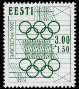 Estonia Scott B61  MNH** Olympic semi-postal stamp