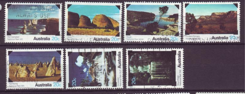 J16482 JLstamps 1979 australia set used #700-6 nat,l parks