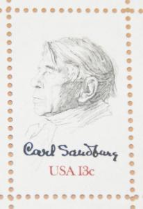 1978 sheet, Carl Sandburg Sc #1731