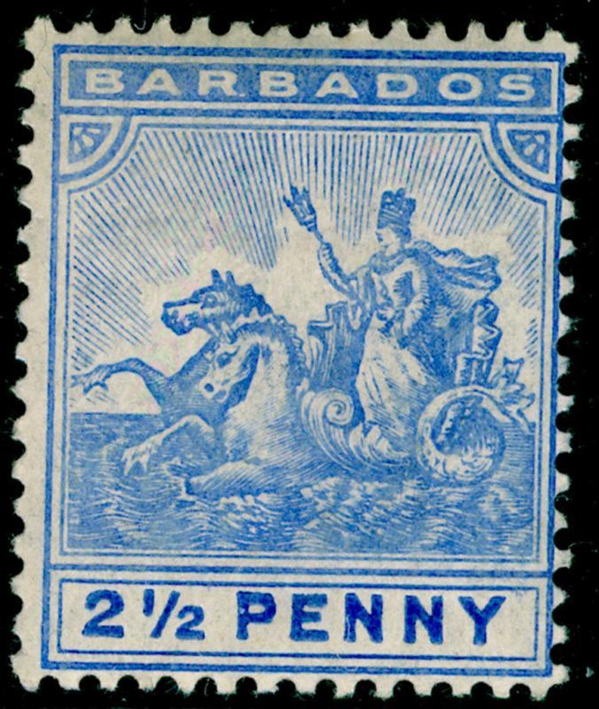 BARBADOS SG139, 2½d blue, LH MINT. Cat £28.