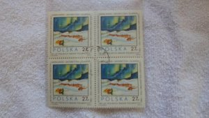 1982 POLAND BLOCK OF 4 STAMPS CTO. MNH.