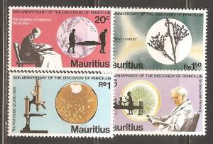 Mauritius  SC  465-8 Mint  Never Hinged