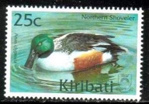 Duck, Northern Shoveler, Kiribati stamp SC#775 MNH