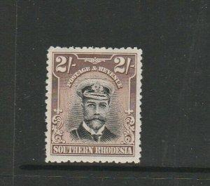 Southern Rhodesia 1924/9 Admiral 2/- MM SG 12