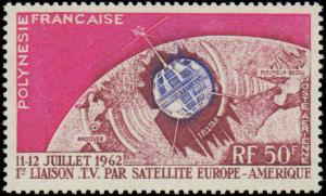 1962 French Polynesia #C29, Complete Set, Never Hinged