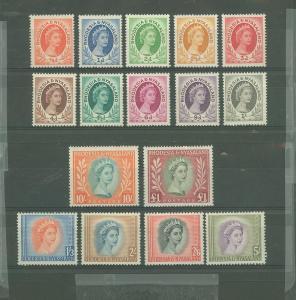 1954-6 Rhodesia&Nyasaland Scott 141-155 QE II MLH