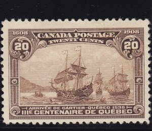 Canada Scott # 103 VF mint lightly hinged nice color scv $ 250 ! see pic !