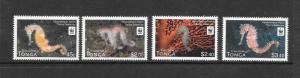 WWF - TONGA-SEAHORSE #1173-1176  MNH