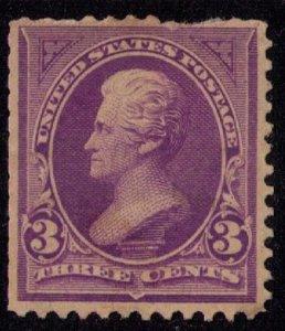US Sc 253 Mint No GumFaulty Perf Upper R / F-VF