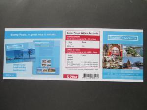 AU 2008 SG SB301 TOURIST PRECINCTS $11.00 BKL CV £14.00 MNH UNFOLDED