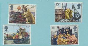 Great Britain Scott #956 To 959, Fishermen's Year Issue From 1981 - Free U.S....