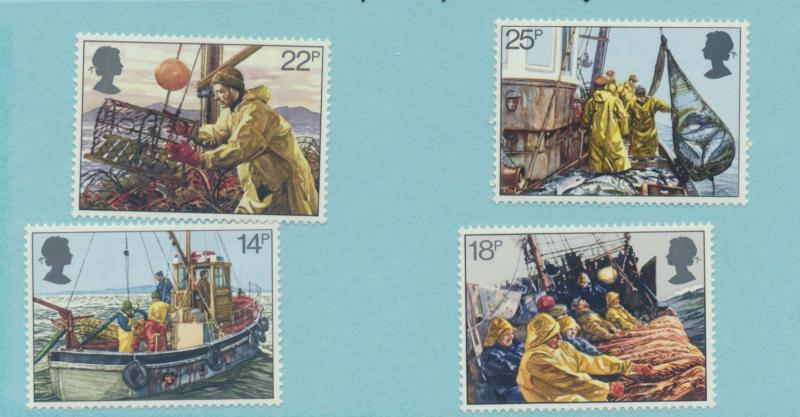 Great Britain Scott #956 To 959, Fishermen's Year Issue From 1981 - Free U.S....