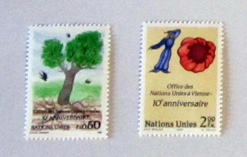 UN, Geneva- 178-79, MNH Set. 10th Anniversary. SCV - $4.50