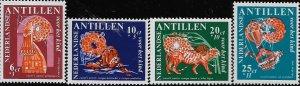 NETHERLANDS ANTILLES, B81-B84,  MINT HINGED, NANZI STORIES