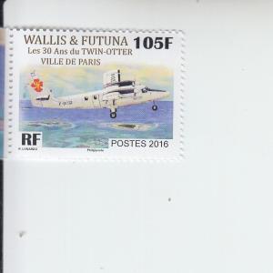 2016 Wallis & Futuna Is Twin Otter Airplane (Scott 778) MNH
