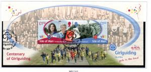 Isle of Man Sc 1365 2010 Girl Guides stamp sheet used