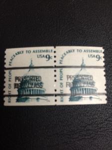1616b .09 Capital Precanceled With Narrow Spacing. Brookman Cat. $50. Per. Stamp