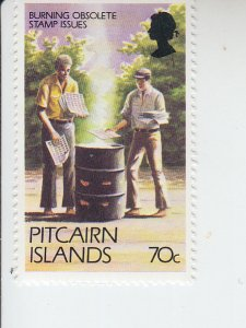 1981 Pitcairn Is Burning Excess Stamps (Scott 171A) MNH