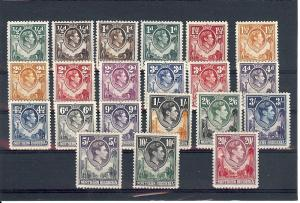 Northern Rhodesia, 25-45, King George VI Singles, **Hinged**