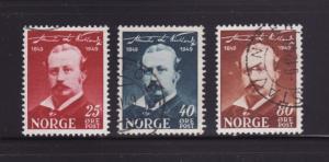 Norway 295-297 Set U Alexander Kielland, Author (A)
