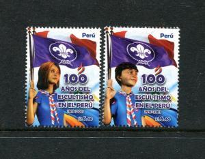 Peru 1764-1765, MNH, Scouting in Peru Centenary 2014. x29614