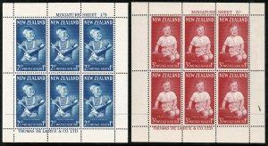 NEW ZEALAND 1963 QE II MINI SHEETS MINT (NH) SGMS816b Wmk.98 P.14 SUPERB
