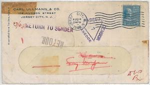 BURMA \ USA - POSTAL HISTORY:  AMERICAN COVER tu BURMA with Rangoon CENSURE 1940