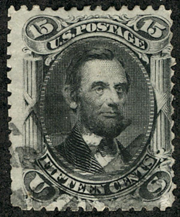 US #77 SCV $170.00 F/VF used, face free lighter cancel, fresh looking Lincoln...