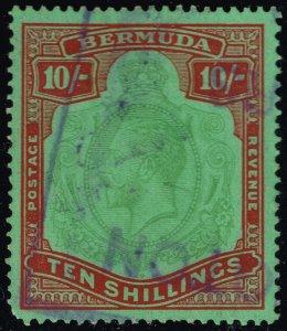 Bermuda #96a King George V; Used (1Stars)