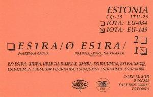 8823 Amateur Radio QSL Card  TALLINN ESTONIA