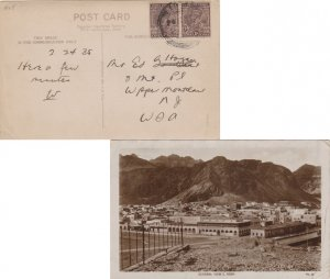 Aden India 1a KGV (2) 1935 Aden PPC (General View 2. Aden) to Upper Montclair...