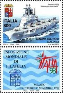 ITALIA REPUBBLICA ITALY REPUBLIC 1998 ESPOSIZIONE MONDIALE DI FILATELIA FORZE...