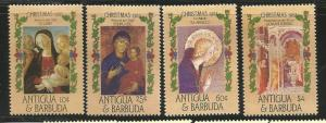 ANTIGUA & BARBUDA 905-908 MINT HINGED CHRISTMAS 1985